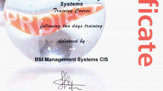 Сертификат ISO/IEC 27001:2005 Introduction to BS ISO/IEC 27001:2005 ISMS