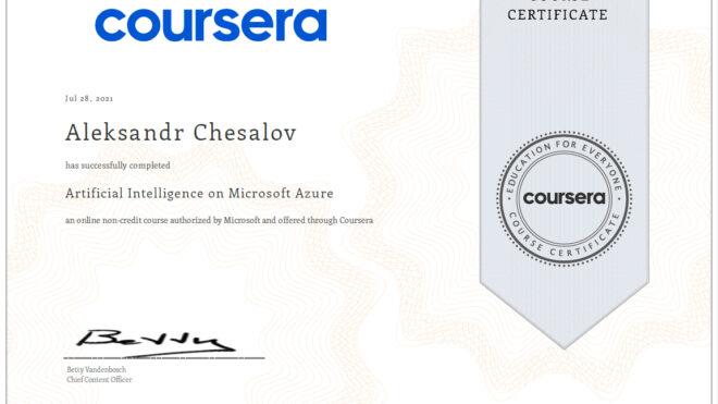 Artificial Intelligence on Microsoft Azure