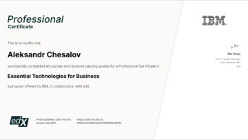 Professional Certificate: Essential Technologies for Business